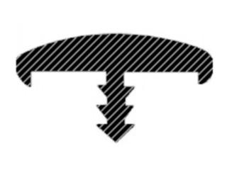 Профиль мебельного кант Т-типа с обхватами (бортиками).
