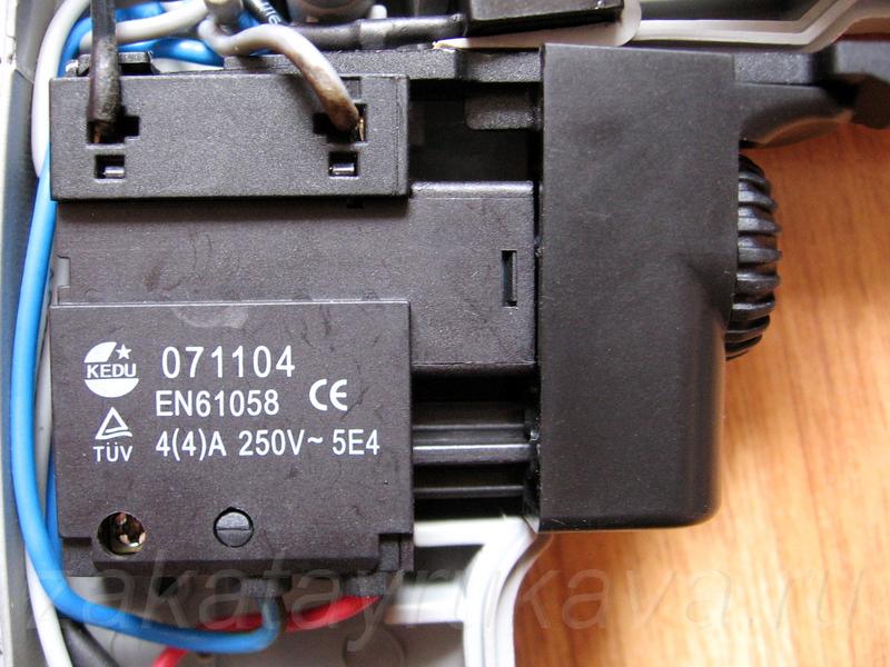 дрель интерскол замена выключателя