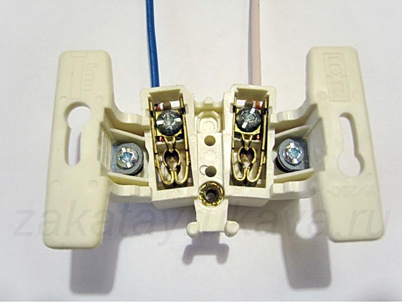 Схема подключения электрических выключателей.