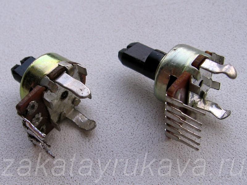 переменные резисторы.