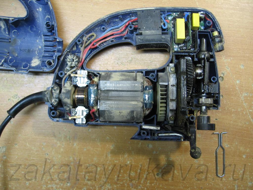 Как починить электролобзик