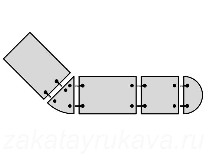Пример применения стяжек (струбцин) в столешнице сложной формы.