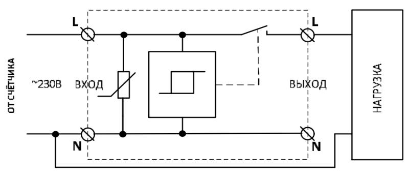 Схема подключения УЗМ-51М. Вариант 2.