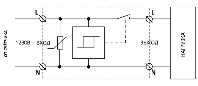 Схема подключения УЗМ-51М. Вариант 1.