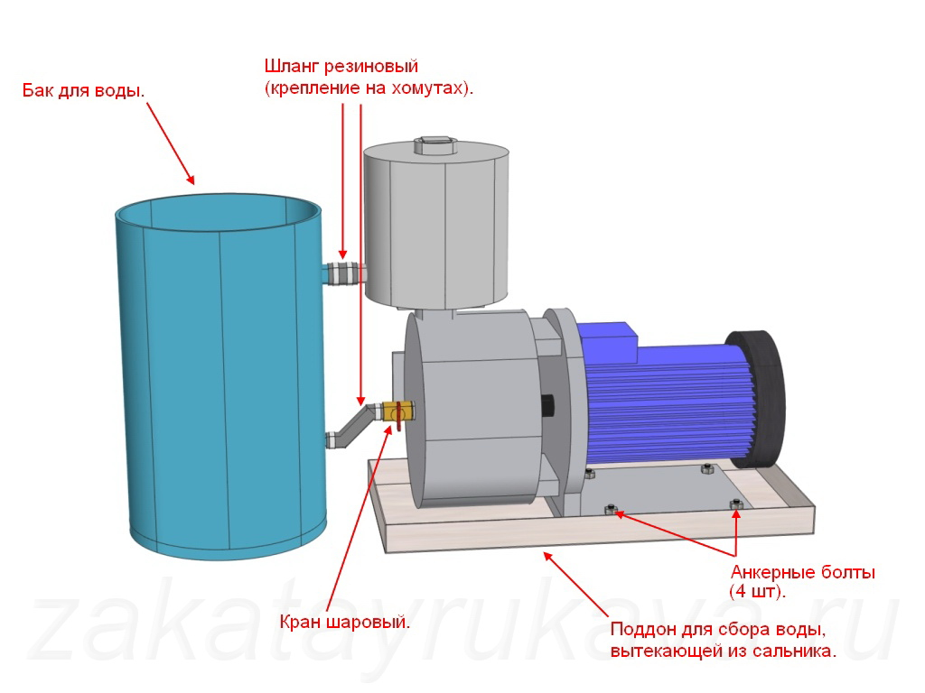 схема установки насоса для накопительного бака