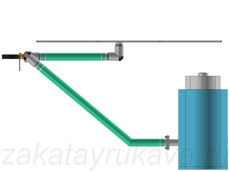 Схема вакуумного трубопровода.