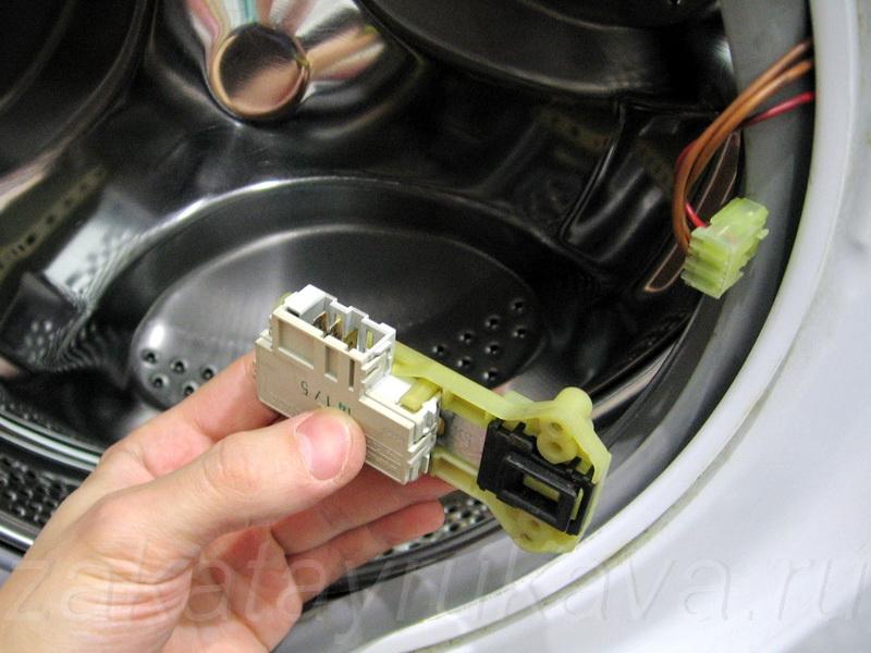 Ремонт замка люка стиральной машины