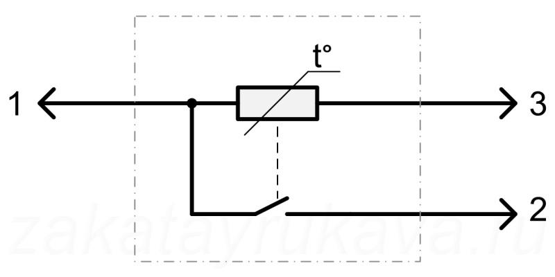 Электрическая схема замка.
