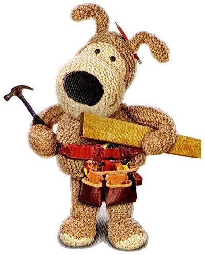 Собака с инструментами