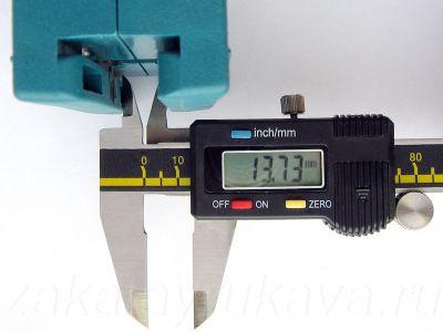 WEGOMA AU93. Измерение минимума расстояния штангенциркулем.