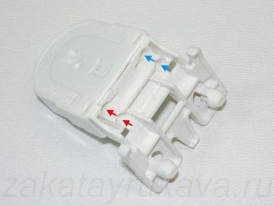 Патрон G13 . Отверстия для проводов.