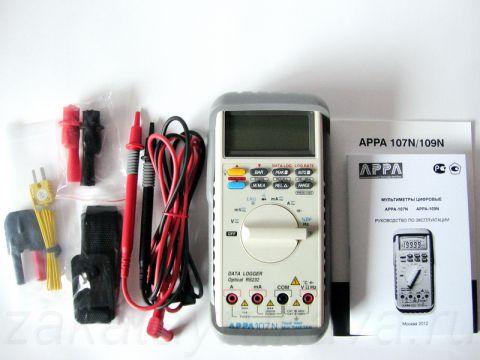 Комплект поставки цифрового мультиметр APPA 107N.