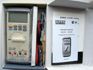 Упаковка цифрового мультиметр APPA 107N.