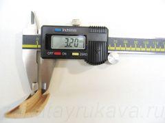 Кант ПВХ врезной для ДСП 32 мм, с обхватами, китайского производства. Толщина шипа = 3,2 мм.
