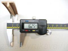 Кант ПВХ врезной для ДСП 16 мм, с обхватами. Измерение внутренней ширины.