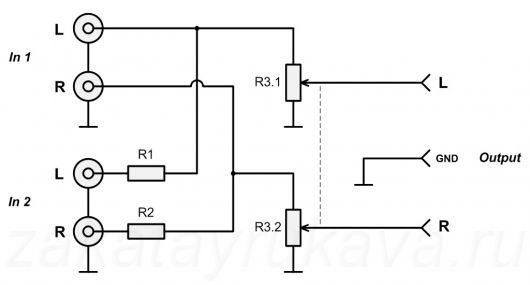 Схема нового аудио-блока для установки в активную колонку акустической системы Microlab Solo 1C.