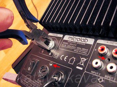 Демонтаж платы обработки звука.