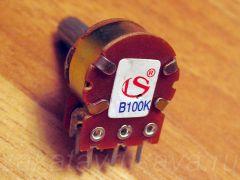 Сдвоенный переменный резистор на 100 кОм.