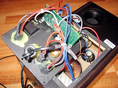 Новый аудио-блок установлен в активную колонку Microlab Solo 1C.