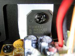 Микросхема FTA9843J в УМЗЧ колонок Microlab Solo 1C.