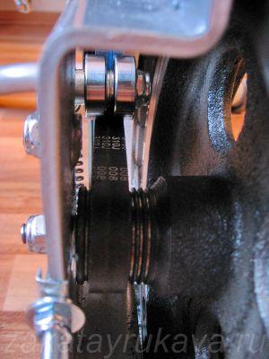 Велотренажер Energetics CT 80 Magnetic со снятым кожухом.