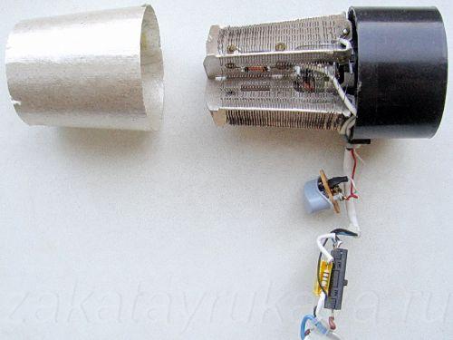 Внутренние элементы фена Rowenta CV 4030.