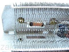 Катушки индуктивности смонтированы внутри нагревательного элемента.