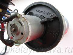 Двигатель фена Интерскол ФЭ-2000. Вид на задний подшипник.