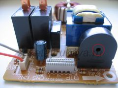 Плата питания микроволновой печи Panasonic NN-G335WF. Вид на зуммер.