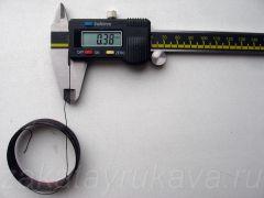Диаметр провода (по меди) сгоревшей катушки. D = 0,38 мм.