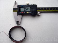 Диаметр провода (по лаку) сгоревшей катушки. D = 0,44 мм.