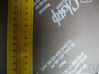 Разметка для стяжек с помощью угольника. 55 мм.