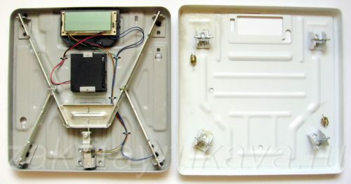 Разборка электронных весов MARTA MT-1650. Вскрытие металлического корпуса.