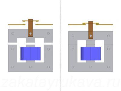 Работа электромагнитного контактора (пускателя).