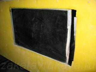 Смотровое стекло. Вид снаружи термомодуля.