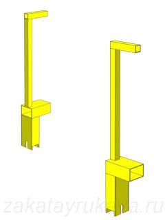 Конструкция и размеры колесной опоры термомодуля.