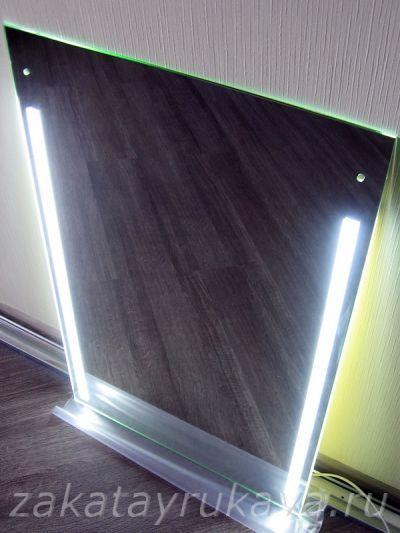 Как сделать зеркало с светодиодной лентой